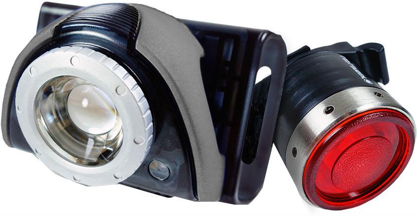 Led Lenser B5R + B2R (9023) – набор велосипедных фонарей (Grey/Black)