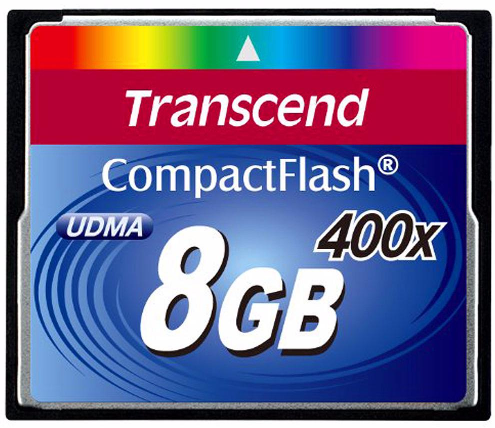 Transcend Compact Flash Premim 400x 8Gb (TS8GCF400) - карта памяти (Blue)