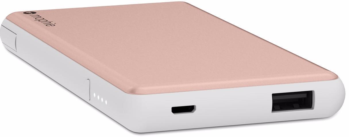 Внешний аккумулятор Mophie Powerstation Plus 6000 mAh (Pink Gold)