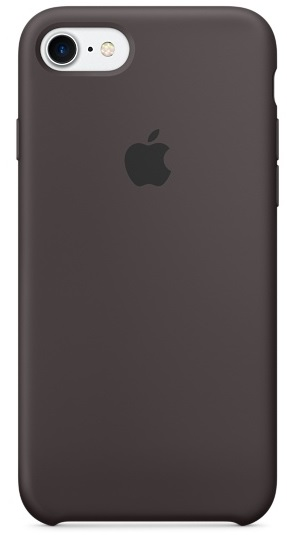 Apple Silicone Case (MMX22ZM/A) - чехол для iPhone 7 (Cocoa)