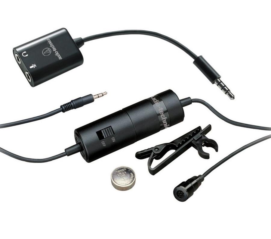 Audio-Technica ATR3350iS - петличный микрофон (Black)