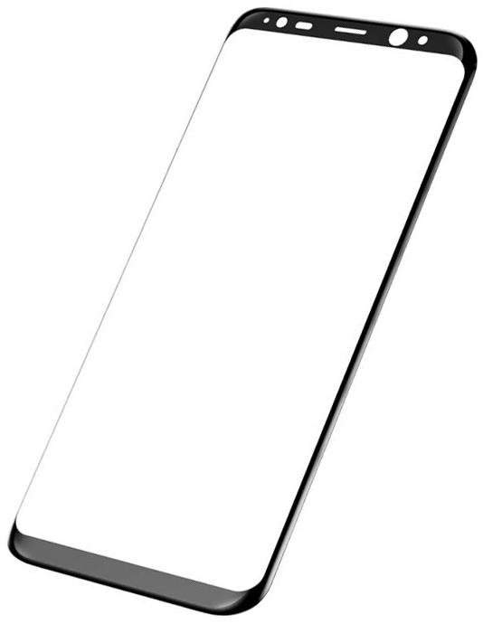 Baseus 3D Arc Tempered Glass Film (SGSAS8P-3D01) - защитное стекло для Samsung Galaxy S8 Plus (Black) 0 3mm 9h tempered glass screen film for apple watch 38mm arc edge