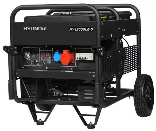 Hyundai HY 12000LE-3 - бензиновый генератор (Black)