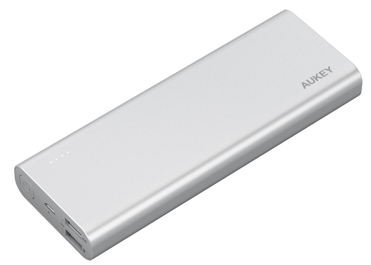 Внешний аккумулятор Aukey PB-AT20 20100mAh (Silver) аккумулятор digicare hydra dm201 20100mah pb hdm201