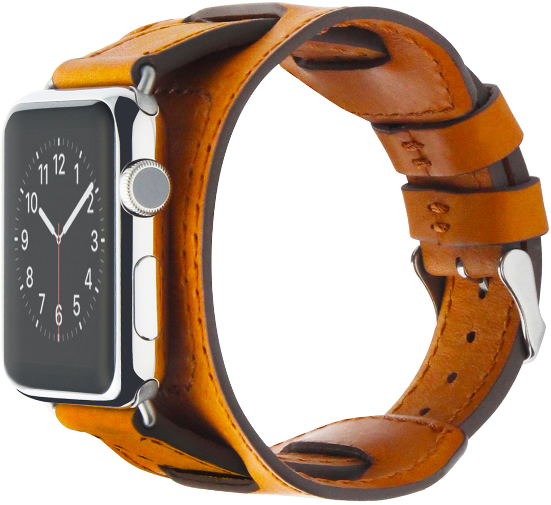 Cozistyle Wide Leather Band (CWLB18) - сменный ремешок для Apple Watch 42mm (Light Tan)