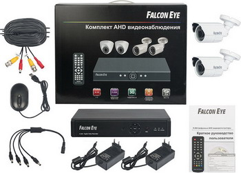 falcon eye Falcon Eye FE-104AHD-KIT - комплект видеонаблюдения (Black/White) FE-104AHD-KIT ДАЧА.1