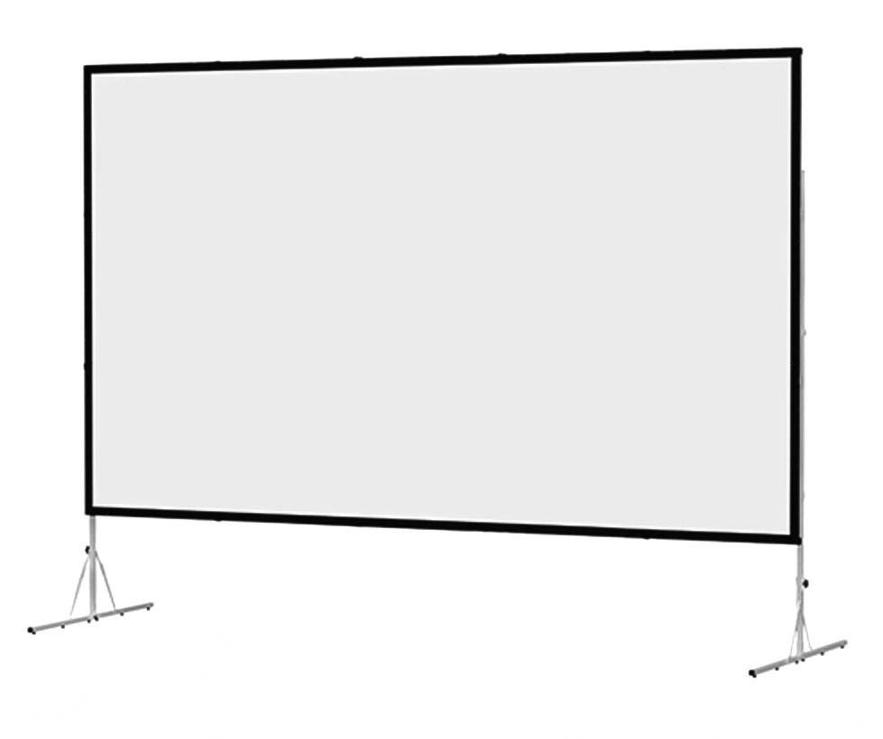 "Da-lite Fast-Fold Deluxe 151"" - экран для проэктора на стойке"