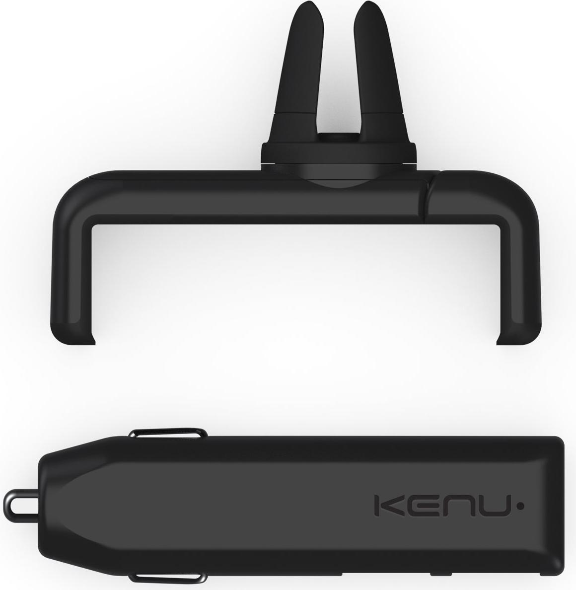 Комплект Kenu Airframe+ Car Kit Dual Trip автомобильное ЗУ + держатель (Black)