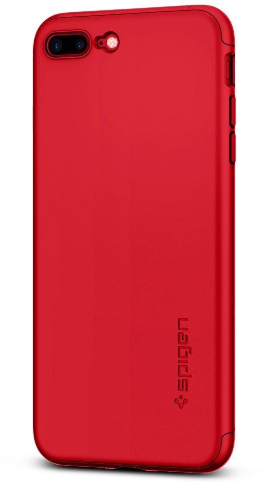 Купить Spigen Thin Fit 360 (043CS21731) - накладка для iPhone 7 Plus (Red)