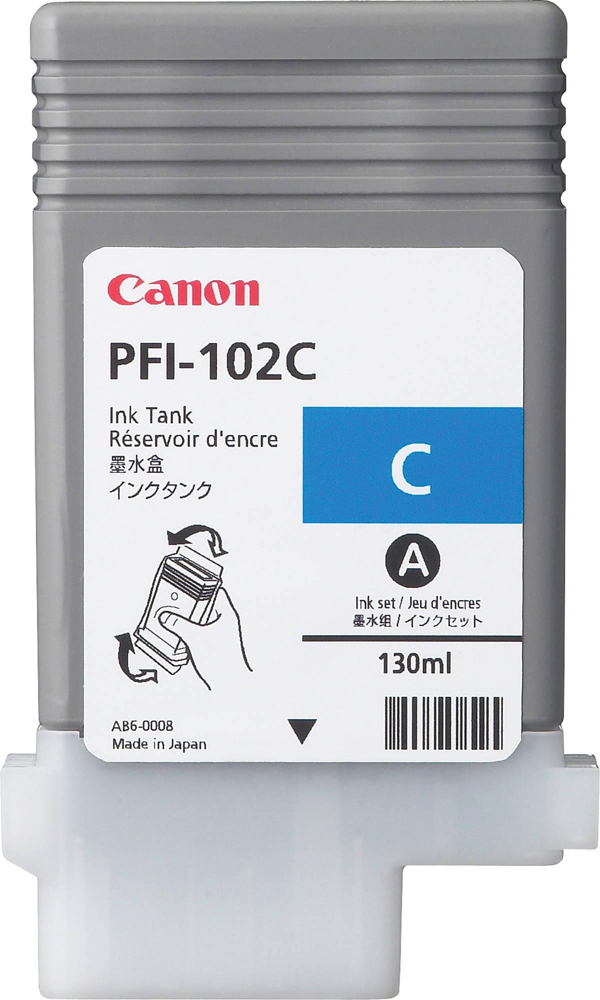 Canon PFI-102C (0896B001) - картридж для принтеров Canon iPF500/600/610/700/710 (Cyan)