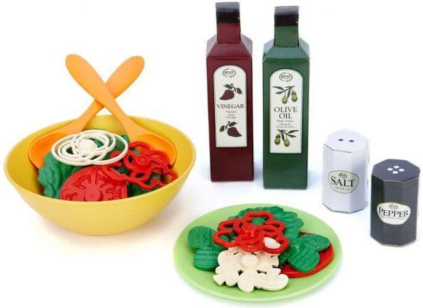 Набор для салата Green Toys (70541)Игрушки для ролевых игр для девочек<br>Набор для салата<br>