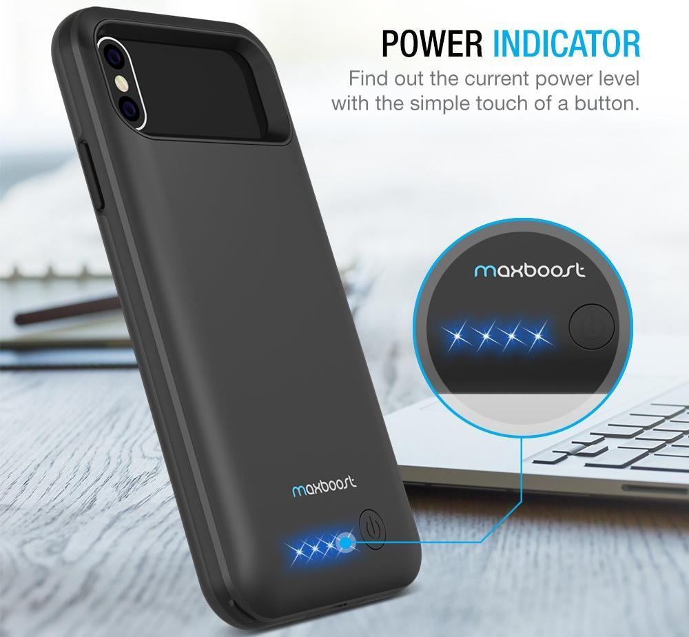 Чехол-аккумулятор Maxboost Battery Case 4000mAh (B073HSP8S4) для iPhone X/Xs (Black)