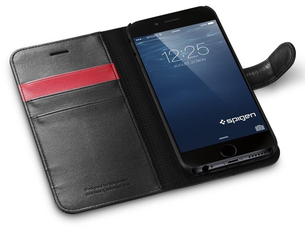Черный чехол-книжка для iPhone 6S