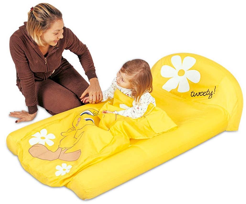 Надувная детская кровать с бортиками