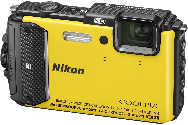 Фотоаппарат Nikon Coolpix AW130 (Yellow)