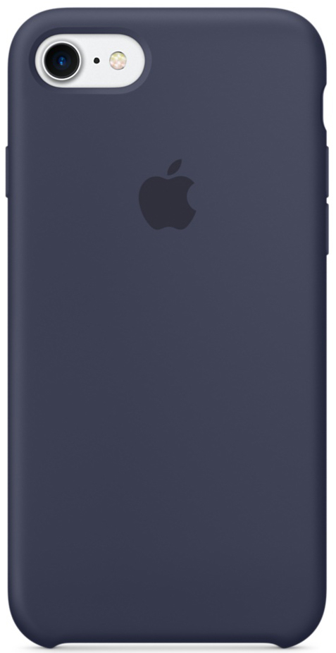 купить Apple Silicone Case (MMWK2ZM/A) - чехол для iPhone 7 (Midnight Blue) онлайн