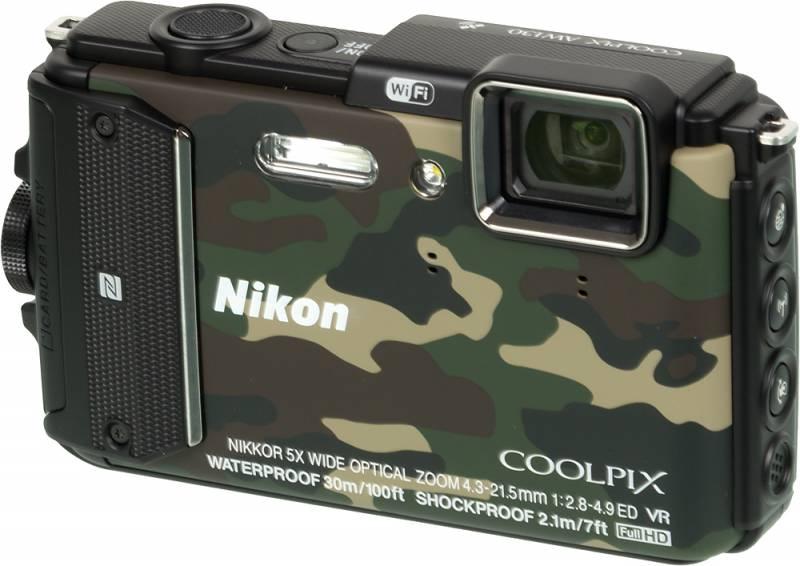 Фотоаппарат Nikon Coolpix AW130 (Grey)