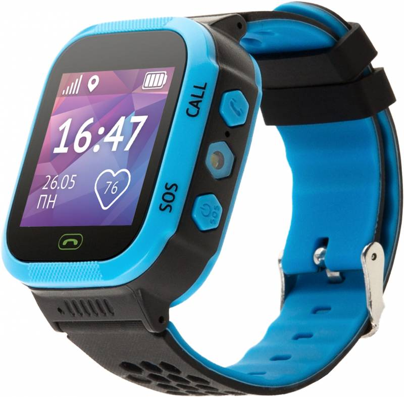 Кнопка жизни Aimoto Start - часы-телефон с GPS (Blue/Black)