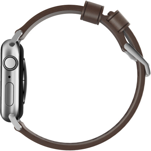 Ремешок Nomad Modern Strap (NM1A4RSM00) для Apple Watch Series 2/3/4 42/44 mm (Brown/Silver)