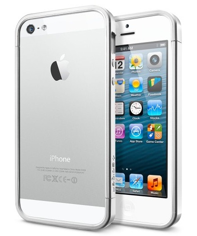 SGP Linear EX Slim Metal (SGP10082) - чехол для iPhone 5/5S (Satin Silver) от iCover
