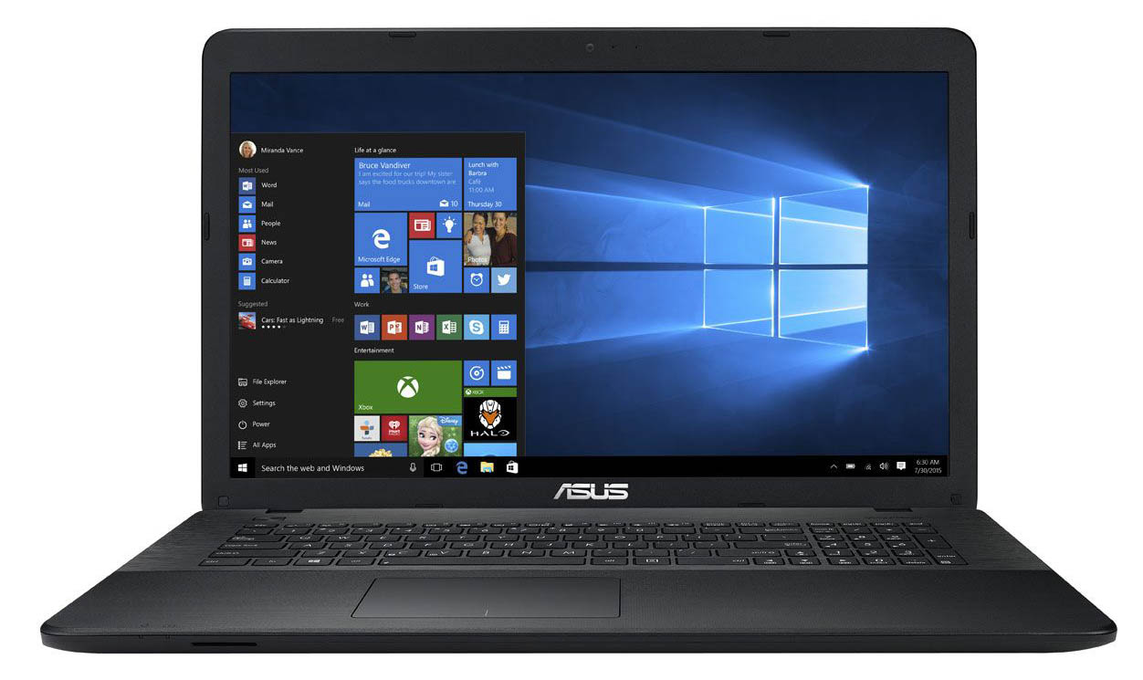 "Ноутбук Asus X751SA 17.3"" Intel Pentium N3700 2.4Ghz, 4Gb, 500Gb HDD, Win10 (90NB07M1-M01350), Black"