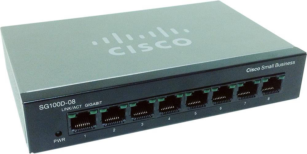 Cisco SG100D-08 8-Port Gigabit Desktop Switch