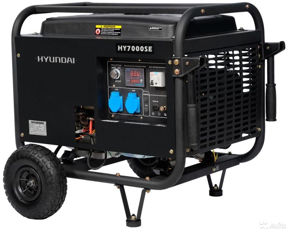 Hyundai HY 7000SE - бензиновый генератор (Black)