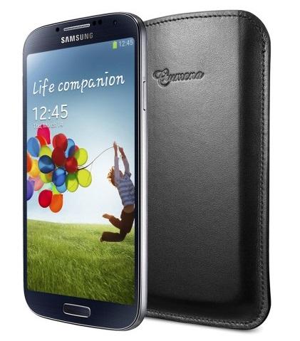 SGP Crumena Leather Pouch (SGP10184) - чехол для Samsung Galaxy S4 (Black) от iCover