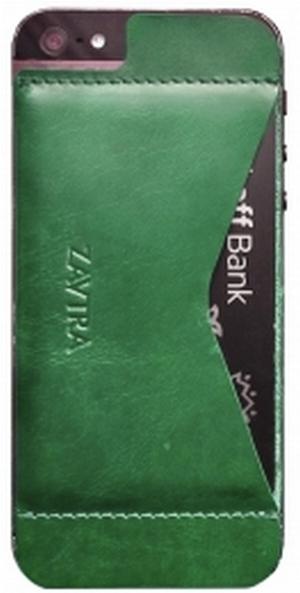 Кошелек-накладка Zavtra для iPhone 5/5S (Green)