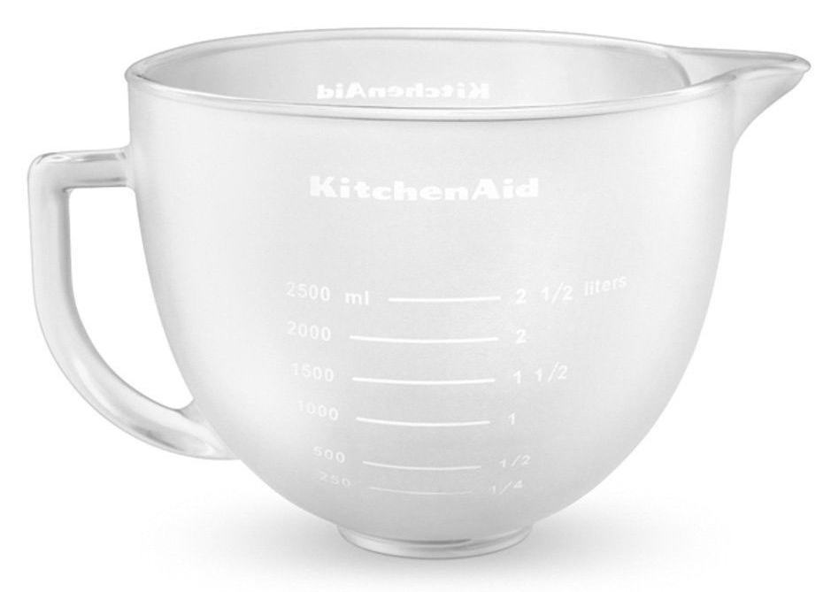 KitchenAid (5K5FGB) - стеклянная чаша 4,83 л (Matted) kitchenaid набор круглых чаш для запекания смешивания 1 4 л 1 9 л 2 8 л 3 шт черные