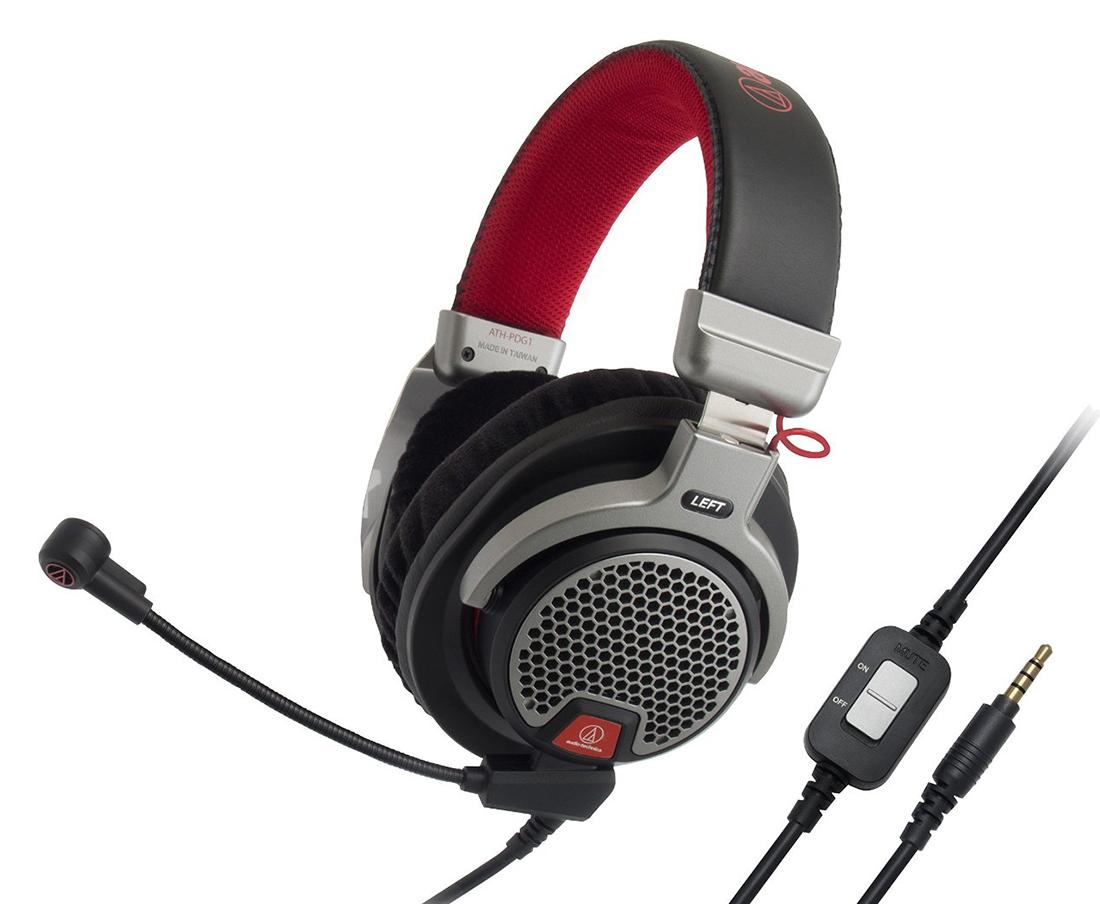 Audio-Technica ATH-PDG1 - проводная гарнитура (Black/Red)Игровые наушники<br>Проводная гарнитура<br>