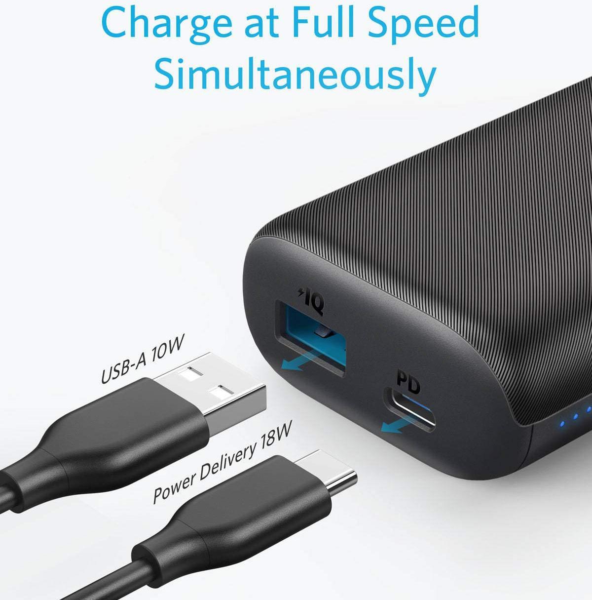Внешний аккумулятор Anker PowerCore 10000mAh USB-C A1235011 (Black)