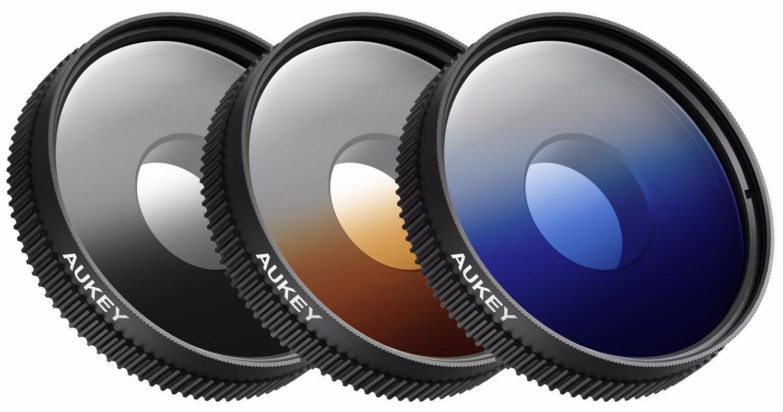Набор объективов Aukey 3 in 1 Lens Kit PF-S1 (Blue/Orange/Grey) объективы