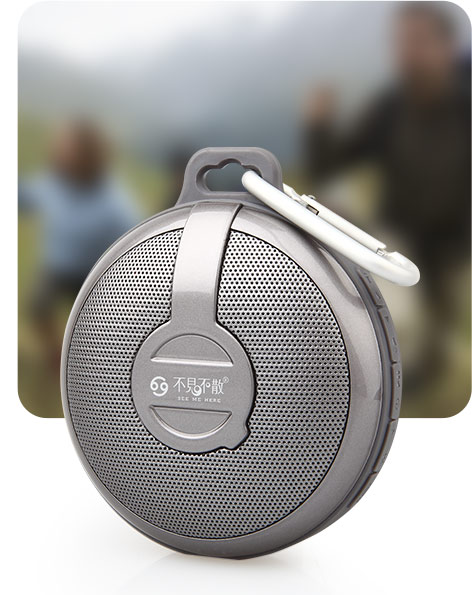Портативный динамик GO BV210 Bluetooth wireless Portable Speaker Subwoofer (grey)
