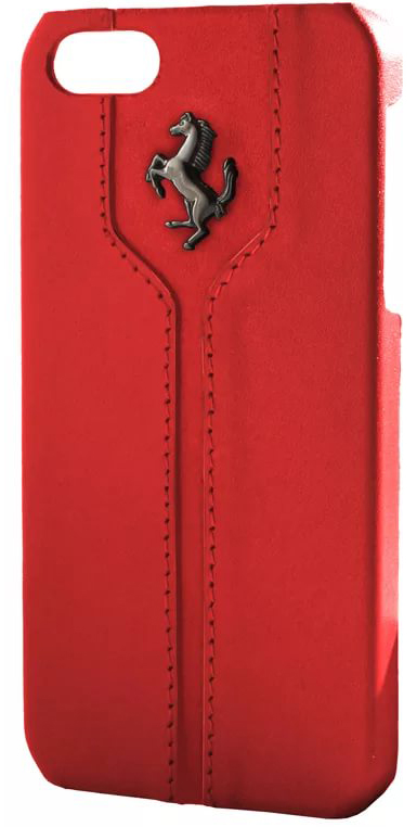 Купить Ferrari Montecarlo Hard (FEMTHCP5RE) - чехол-накладка для iPhone 5/5S/SE (Red)