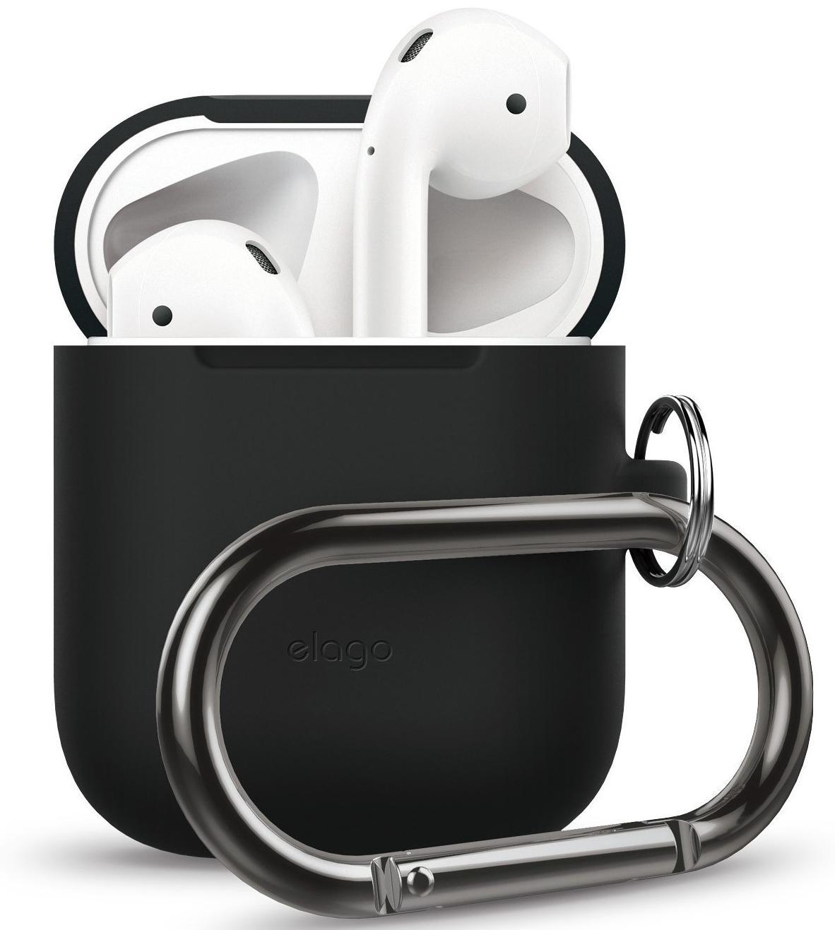 Чехол Elago AirPods Hang Case (EAPSC-HANG-BK) для зарядного кейса AirPods (Black) фото