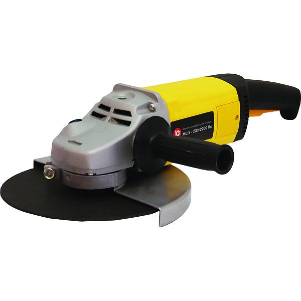 Калибр МШУ-230/2200ПМ - угловая шлифмашина (Grey/Yellow)Угловые шлифовальные машинки (Болгарки)<br>Угловая шлифмашина<br>