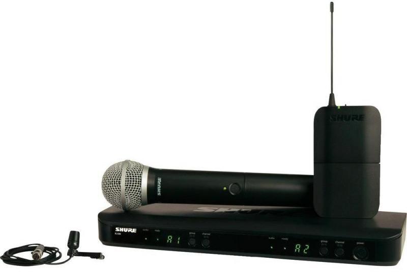 Shure BLX1288E/CVL K3E (A051805) - радиосистема с ручным передатчиком PG58 и петличным микрофоном CVL-B/C