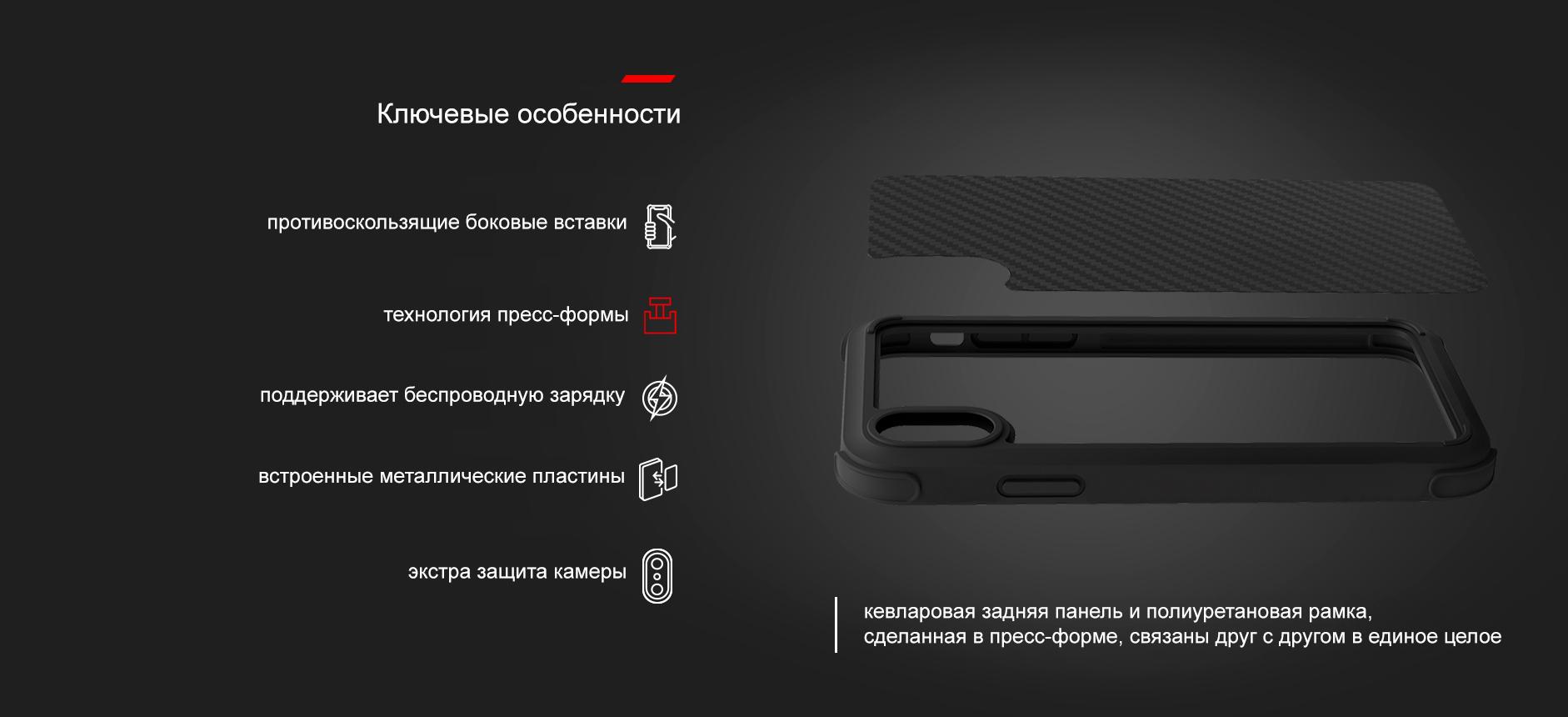 Комплект в авто для iPhone Xs Max Pitaka MagMount Qi Pro Suction + MagCase (Black)