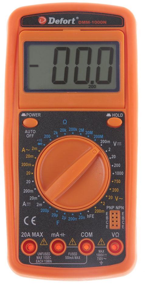 Мультитестер Defort DMM-1000N (98298123)