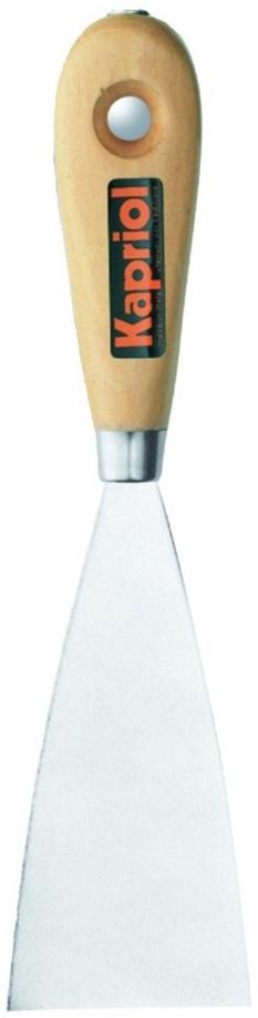Kapriol 120 мм (23211) - гибкий шпатель с деревянной ручкойШтукатурные инструменты<br>Гибкий шпатель с деревянной ручкой<br>