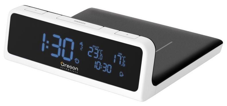 Oregon Scientific QW201 - часы-метеостанция с беспроводной зарядкой стандарта QI (Black/White)