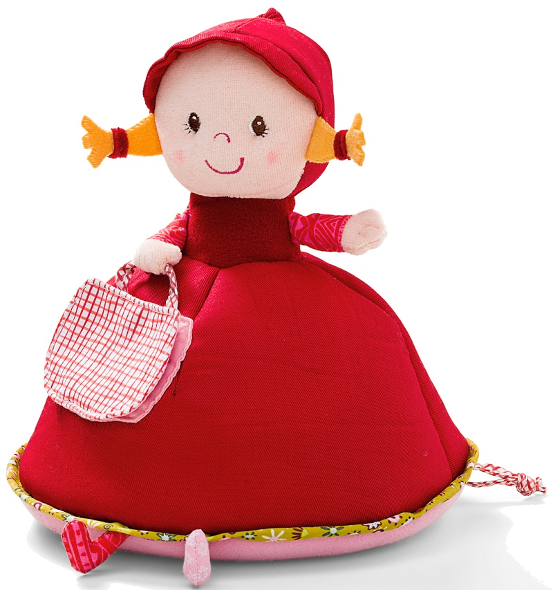 Lilliputiens Красная Шапочка: музыкальная мягкая игрушка-копилка (86605)Развивающие игрушки<br>Музыкальная мягкая игрушка-копилка<br>