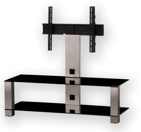 """Sonorous PL 2400 - стойка для телевизора до 50"""" (Black/Silver) PL 2400 B-SMK"""
