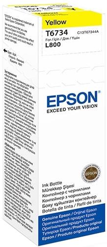 Epson T6734 (C13T67344A) - чернила для принтеров Epson L1800, L800 (Yellow)
