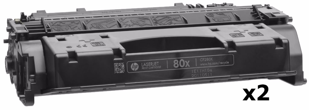 HP 80X Dual Pack (CF280XF) - 2 картриджа для принтеров HP LaserJet Pro 400 M401/M425 (Black)