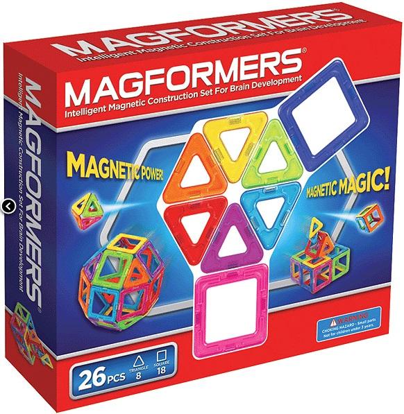 Magformers 26 (63087/701004) - магнитный конструкторКонструкторы для детей младшего возраста<br>Магнитный конструктор<br>