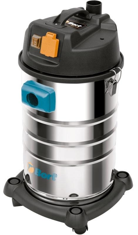 Bort BSS-1230 (98291070) - пылесос промышленный (Silver/Black)Строительные пылесосы<br>Пылесос промышленный<br>