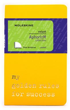 Moleskine Volant My golden rules for success QP713N/1GR