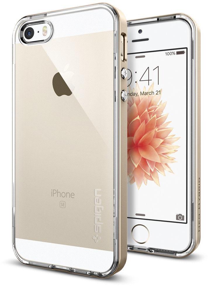 Spigen Neo Hybrid Crystal (041CS20182) - чехол для iPhone 5/5s/SE (Champagne Gold)